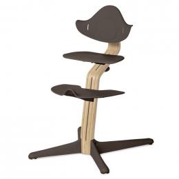 Nomi chaise haute évolutive Chêne clair et Coffee
