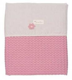 Couverture pour lit Antwerp Blush pink - pebble EDITION LIMITEE - Koeka