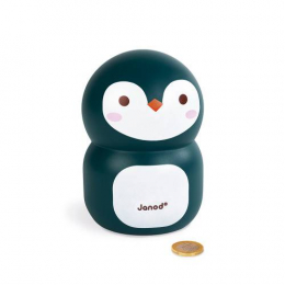 Tirelire Pingouin en bois Janod