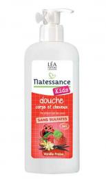 Shampooing douche KIDS Fraise-vanille - Natessance