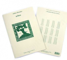 Cahier écolier papier recyclé A4 - Arbre