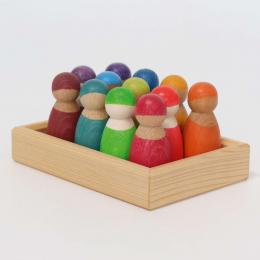 12 amis figurines en bois -  Grimm's
