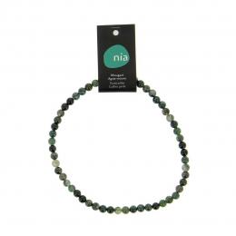 Agate mousse  - Collier de pierres perles - Nia