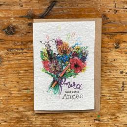 Carte à planter fin d'année scolaire - Merci bouquet - Les cartes de Lulu