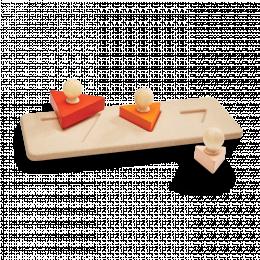 Encastrement en bois les triangles Plantoys