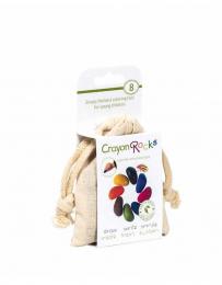Crayons en cire soja - 8 couleurs sac organza - Crayon Rocks