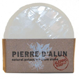 Pierre d'Alun potassium naturel 100 gr Aleppo Soap