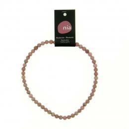 Rhodonite - Collier de pierres perles - Nia