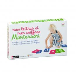 Coffret Montessori Mes lettres et mes chiffres Nathan