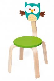 Chaise en bois - Hibou Lou - Scratch