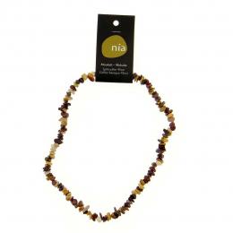 Mokaïte - Collier baroque de pierres protectrices perles - Nia