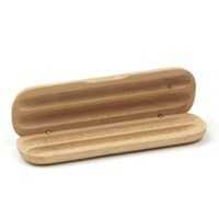 Etui en bois avec son stylo bille et porte plume