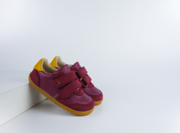 Chaussures Bobux - Step Up - Riley Boysenberry + Chartreuse