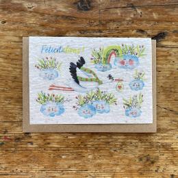Carte à planter naissance - Félicitations cigogne - Les cartes de Lulu