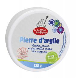 Pierre d'argile - récurante -125g - argile blanche