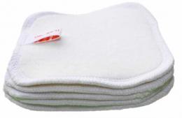 Lot de 5 lingettes démaquillantes lavables en coton BIO - Oh qu'il est bio !