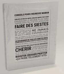 Affiche ' Conseils pour l'heureuse maman' TOUT EST DIT