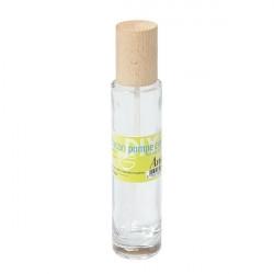 Flacon pompe en verre et bois - 100 ml - Anaé