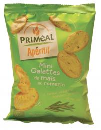 Mini galettes de maïs au romarin 50 g bio Priméal