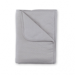 Couverture 75x100cm rayure gris ecru pady twin jersey Bemini