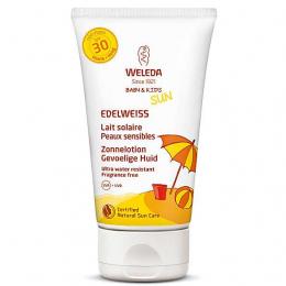 Lait solaire peaux sensibles à l'Edelweiss - SPF30 - 150ML - Weleda