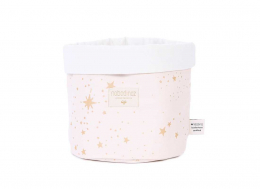 Panier panda Large - Gold stella/dream pink  - Nobodinoz