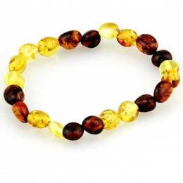 Bracelet d'ambre multicolore adulte