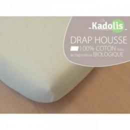 Drap housse Ecru - 60x120 cm - Kadolis