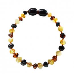 Bracelet d'ambre bébé/enfant multicolore