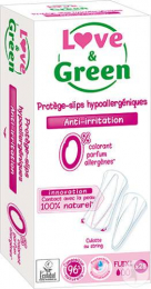 Protège-slips hypoallergéniques FLEXI Love and green