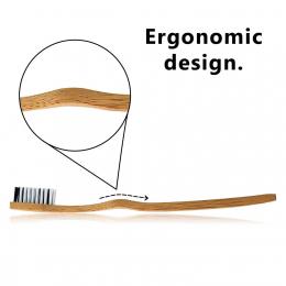 Brosse à dents en bambou et charbon - Bambaw