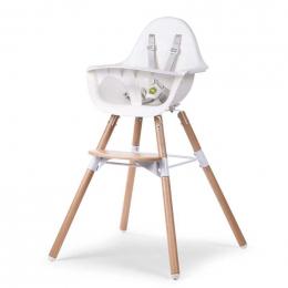 Chaise haute évolutive 2 en 1 - Evolu 2 - Blanc - Childhome