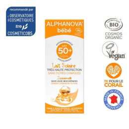 Lait solaire BIO 50SPF Bébé Alphanova