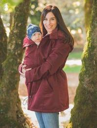Manteau de portage / grossesse - 4 en 1 - Bordeaux - Wearmebaby