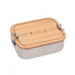 Boîte à goûter inox bambou Garden Explorer Lassig