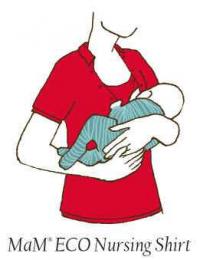 T-shirt d'allaitement rouge manches courtes - Mam