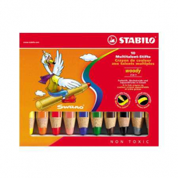STABILO woody 3 en 1 - 10 crayons