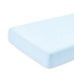 Drap housse matelas parc 75x100 cm bleu pâle Bemini