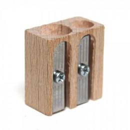 Taille crayon double en bois