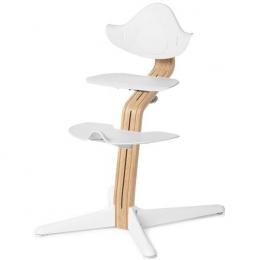 Nomi chaise haute évolutive Chêne clair et blanc