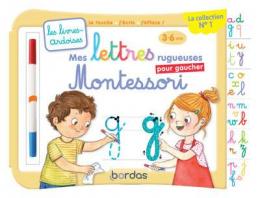 Livre ardoise Mes lettres rugueuses Montessori pour gaucher