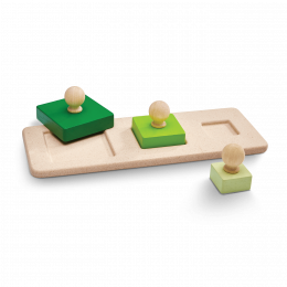Encastrement en bois les carrés Plantoys