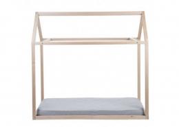 Lit cabane selon Montessori - Petite maison naturel - 90x200 - Childhome