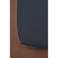 Drap housse coton bleu marine 60x120 cm Kadolis