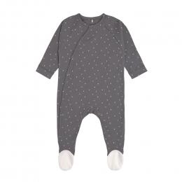 Pyjama bébé GOTS - Cozy Colors, Pois Anthracite Lassig