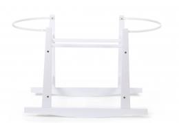 Support à bascule en bois blanc pour couffin Childhome