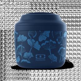 Bento Lunchbox isotherme  graphic bleu Ginkgo Monbento