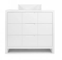 Commode 3 tiroirs plan à langer Quadro White Childhome