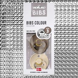Lot de 2 tétines BIBS T3 vanille/dark oak