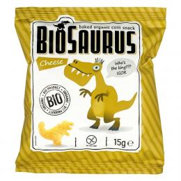 BIOSAURUS - chips de mais au fromage BIO - 15g - vegan sans gluten